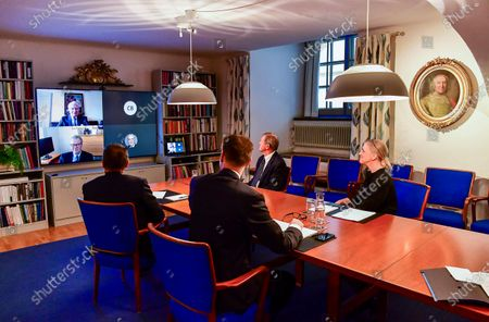 Editorial picture of Swedish Royals video conference, Stockholm, Sweden - 11 May 2020