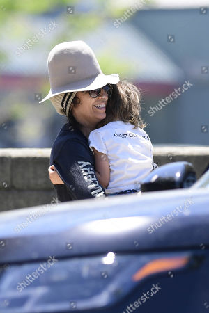 Stock Photo of Linda Perry and Rhodes Gilbert Perry