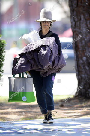 Editorial image of Linda Perry and Sara Gilbert out and about, Los Angeles, USA - 11 May 2020