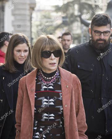 Anna Wintour, journalist and editor of Vogue America magazine photographed in Milan during a fashion week