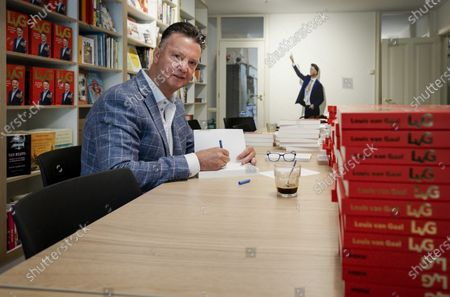 Former Dutch head coach Louis van Gaal signs his biography in Amsterdam, The Netherlands, 12 May 2020. Van Gaal has published the biography 'LvG', written by journalist Robert Heukels.