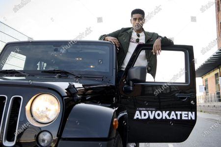Stock Photo of Alexander Karim photographed ahead of the release of season 2 of crime thriller The Lawyer (Swedish: Advokaten)