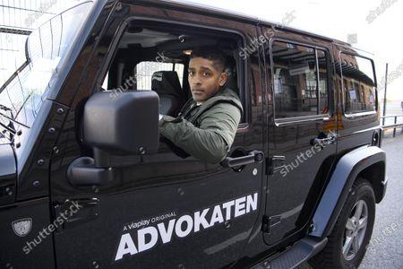 Alexander Karim photographed ahead of the release of season 2 of crime thriller The Lawyer (Swedish: Advokaten)