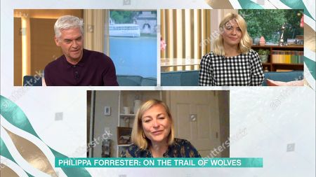 Phillip Schofield, Holly Willoughby and Philippa Forrester