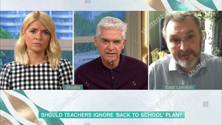Phillip Schofield, Holly Willoughby and Kevin Courtney