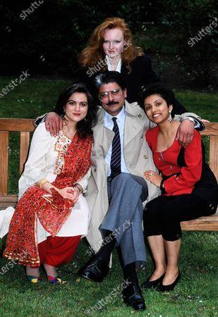 L -R Unknown, Emma Davies, Marc Zuber and Anjuu Misra - Family Pride 1991