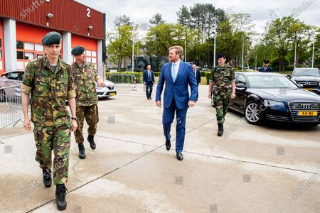 Editorial photo of King Willem Alexander visit to the Territorial Operation Center, Amersfoort, Netherlands - 13 May 2020