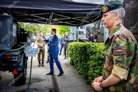 Editorial image of King Willem Alexander visit to the Territorial Operation Center, Amersfoort, Netherlands - 13 May 2020
