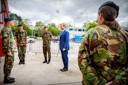 Editorial picture of King Willem Alexander visit to the Territorial Operation Center, Amersfoort, Netherlands - 13 May 2020