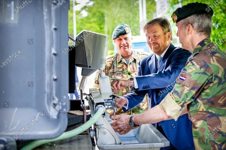 King Willem Alexander visit to the Territorial Operation Center, Amersfoort