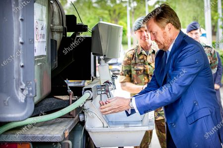 Stock Picture of King Willem-Alexander during a working visit.The visit took place in the context of the coronavirus outbreak (COVID-19).