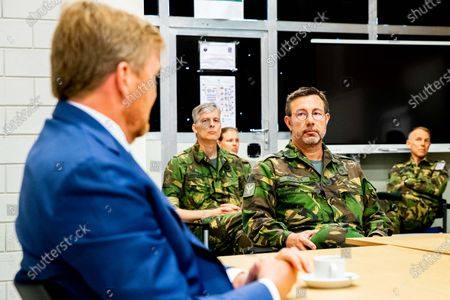 King Willem-Alexander during a working visit.The visit took place in the context of the coronavirus outbreak (COVID-19).