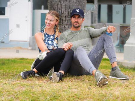 James Maslow and Caitlin Spears at Zuma Beach