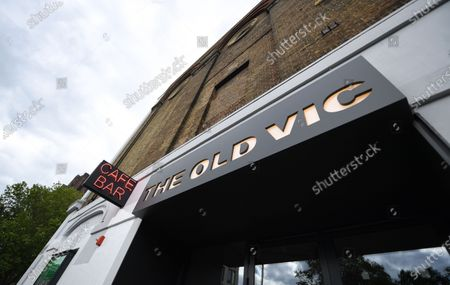 Stock Image of Exterior view of the Old Vic Theatre in south London, Britain, 13 May 2020, amid the ongoing coronavirus COVID-19 pandemic. The Old Vic Theatre is facing a 'seriously perilous' financial situation due to the COVID-19 pandemic, according to news reports citing the Old Vic's artistic director Matthew Warchus. Britain's economy has suffered a two per cent fall, its worst decline since the 2008 financial crash. Countries around the world are taking measures to stem the widespread of the SARS-CoV-2 coronavirus which causes the COVID-19 disease.