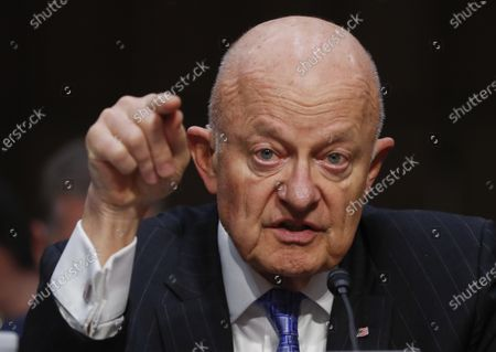 """Former National Intelligence Director James Clapper testifies on Capitol Hill in Washington, before the Senate Judiciary subcommittee on Crime and Terrorism hearing: """"Russian Interference in the 2016 United States Election"""