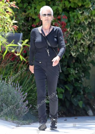 Editorial picture of Jamie Lee Curtis out and about, Los Angeles, USA - 13 May 2020