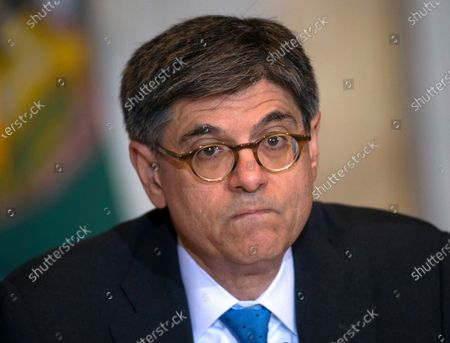 Then-Secretary of the Treasury and Council Chairperson Jack Lew listens during the Financial Stability Oversight Council at the Treasury Department in Washington