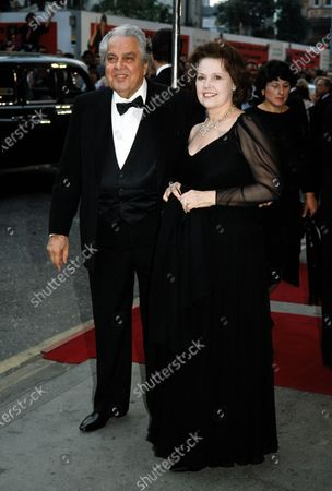 Albert Broccoli 'Cubby' and wife Dana - Licence to Kill premiere 1989