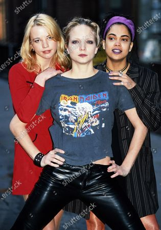 Stock Image of Sara Cox, Rachel Williams and Clare Gorham - The Girlie Show 1996