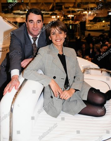 Stock Picture of Carol Smillie and Nigel Mansell - Boat Show 1998