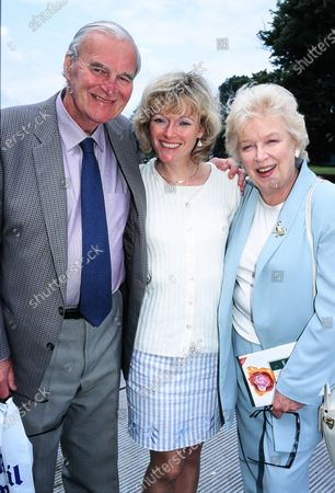 June Whitfield with husband Tim Aitchison and daughter Suzy Aitchison 1998