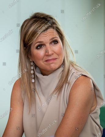 Stock Photo of Queen Maxima during a visit to the Drentheplantsoen residential care location for the mildly mentally handicapped of the Middin foundation in The Hague.