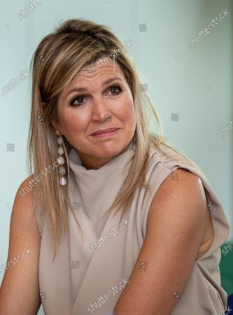 Editorial image of Queen Maxima to the Drentheplantsoen residential care, The Hague, Netherlands - 14 May 2020