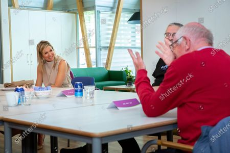 Queen Maxima during a visit to the Drentheplantsoen residential care location for the mildly mentally handicapped of the Middin foundation in The Hague.