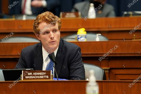 United States Representative Joseph P. Kennedy, III (Democrat of Massachusetts) asks questions of Dr. Richard Bright, former director of the Biomedical Advanced Research and Development Authority, during a US House Energy and Commerce Subcommittee on Health hearing to discuss protecting scientific integrity in response to the coronavirus outbreak.