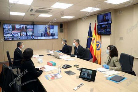 Editorial picture of King Felipe visits National Center for Monitoring and Coordination of Emergencies (CENEM), Madrid, Spain - 14 May 2020