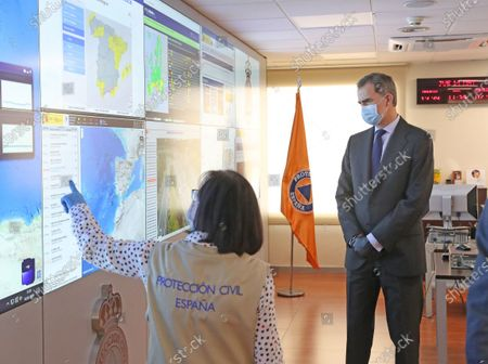 Editorial image of King Felipe visits National Center for Monitoring and Coordination of Emergencies (CENEM), Madrid, Spain - 14 May 2020