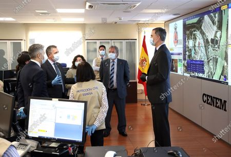 King Felipe visits CENEM, Madrid