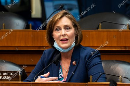 "U.S. Representative Kathy Castor (D-FL) speaks at the House Committee on Energy and Commerce Subcommittee on Health hearing on ""Protecting Scientific Integrity in the COVID-19 Response""."