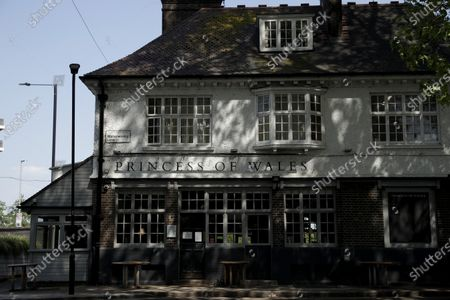 The Princess of Wales pub, which was formerly called the Prince of Wales and renamed after the death of Princess Diana in 1997, stands temporarily closed due to the nationwide coronavirus lockdown, on Lea Bridge Road, in the Lower Clapton area of east London
