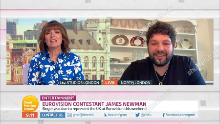 Lorraine Kelly and James Newman