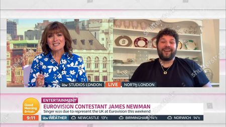 Stock Image of Lorraine Kelly and James Newman