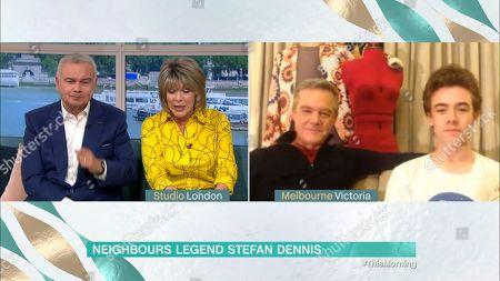 Stock Photo of Eamonn Holmes, Ruth Langsford, Stefan Dennis and Declan Dennis