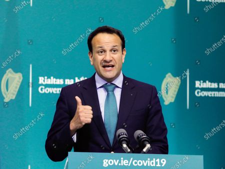 Editorial photo of Irish PM Varadkar coronavirus briefing, Dublin, Ireland - 15 May 2020