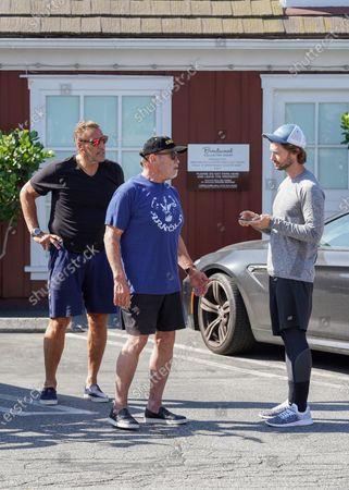 Ralf Moeller, Arnold Schwarzenegger and Patrick Schwarzenegger