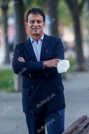 Stock Picture of French former prime minister and Barcelona Pel Canvi party spokesman, Manuel Valls poses for a photograph during an interview in Barcelona, Spain, 16 May 2020.