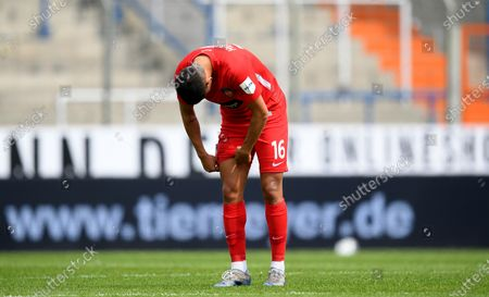 Stock Picture of Kevin Sessa of Heidenheim reacts after the German Bundesliga Second Division soccer match between VfL Bochum 1848 and 1. FC Heidenheim 1846 at Vonovia Ruhrstadion in Bochum, Germany, 16 May 2020. The Bundesliga and Second Bundesliga are the first professional leagues to resume the season after the nationwide lockdown due to the ongoing Coronavirus (COVID-19) pandemic. All matches until the end of the season will be played behind closed doors.
