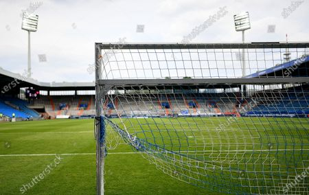 A general view afte the German Bundesliga Second Division soccer match between VfL Bochum 1848 and 1. FC Heidenheim 1846 at Vonovia Ruhrstadion in Bochum, Germany, 16 May 2020. The Bundesliga and Second Bundesliga are the first professional leagues to resume the season after the nationwide lockdown due to the ongoing Coronavirus (COVID-19) pandemic. All matches until the end of the season will be played behind closed doors.
