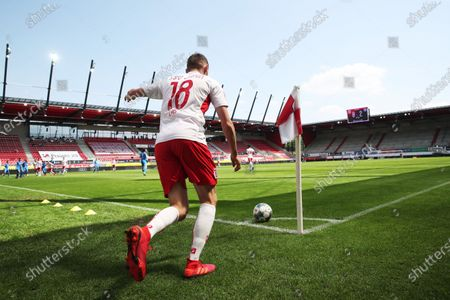 Stock Picture of Marc Lais of Jahn Regensburg in action during the German Bundesliga Second Division soccer match between SSV Jahn Regensburg and Holstein Kiel at Continental Arena in Regensburg, Germany, 16 May 2020. The Bundesliga and Second Bundesliga are the first professional leagues to resume the season after the nationwide lockdown due to the ongoing Coronavirus (COVID-19) pandemic. All matches until the end of the season will be played behind closed doors.