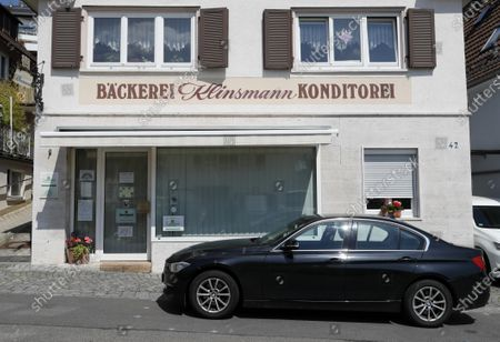 A view of the closed Klinsmann bakery and konditorei in Stuttgart, Germany, 16 May 2020. According to media reports, the Klinsmann bakery will be closed on 01 June 2020 until further notice. The bakery was opened in 1978 by the parents of former professional footballer Juergen Klinsmann.