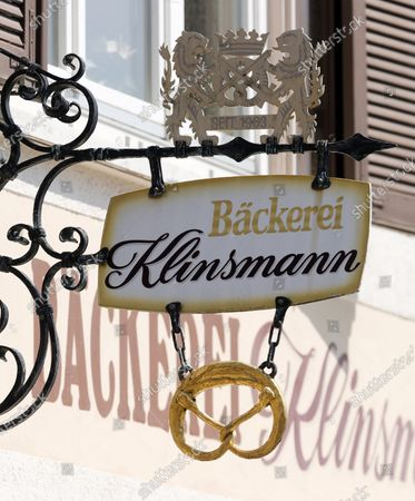 A sign over the entrance of the closed Klinsmann bakery and konditorei in Stuttgart, Germany, 16 May 2020. According to media reports, the Klinsmann bakery will be closed on 01 June 2020 until further notice. The bakery was opened in 1978 by the parents of former professional footballer Juergen Klinsmann.