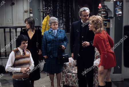 'Dear Mother.....Love Albert' TV Series - 1969 - 1972 - Rodney Bewes as Albert Courtnay, Liz Gebhardt as Doreen Bissell, Amelia Bayntun as Ada Bissell, John Le Mesurier and Luan Peters as Leslie Willis.