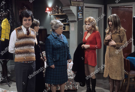 'Dear Mother.....Love Albert' TV Series - 1969 - 1972 - Rodney Bewes as Albert Courtnay, Liz Gebhardt as Doreen Bissell, Amelia Bayntun as Ada Bissell, Luan Peters as Leslie Willis and Mary Land.