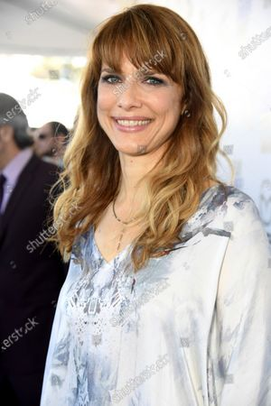 """Stock Picture of Director Lynn Shelton arrives at the 35th Film Independent Spirit Awards, in Santa Monica, Calif. Shelton, an independent filmmaker who directed """"Humpday"""" and """"Little Fires Everywhere,"""" has died at age 54. Shelton's publicist, Adam Kersh, said in a statement, that she died Friday in Los Angeles from an unidentified blood disorder"""