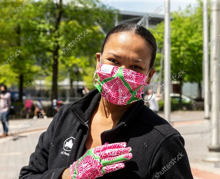 Editorial picture of De Blasio distributes masks amid COVID-19 pandemic, New York, United States - 16 May 2020