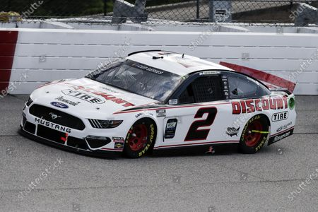 Brad Keselowski (2) competes in the NASCAR Cup Series auto race, in Darlington, S.C